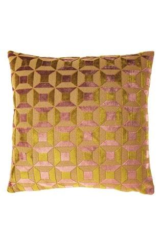 Riva Home Yellow Empire Velvet Jacquard Cushion