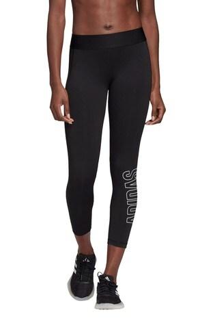adidas Black Alphaskin Brand Leggings