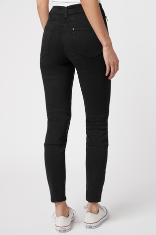Black Utility Skinny Trousers