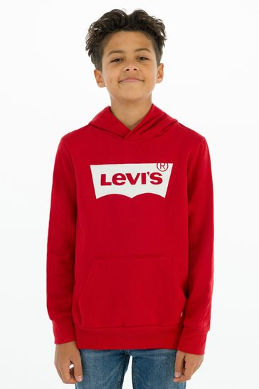 Levi's® Kids Red Batwing Screenprint Hoodie