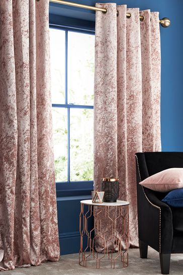 Crushed Pink Made To Measure Curtains