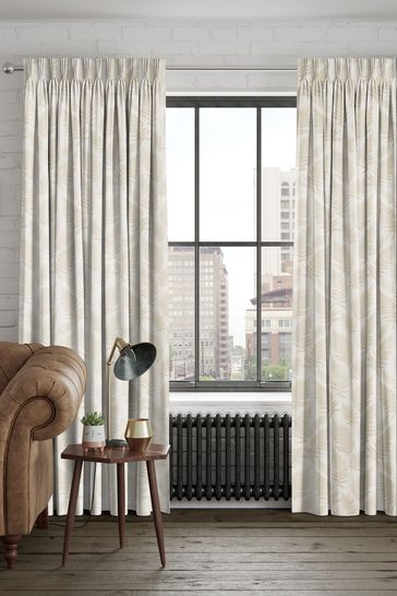 Clarissa Champagne Natural Made To Measure Curtains