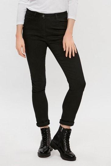 M&Co Black Basic Slim Jeans