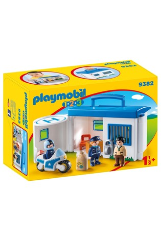 Playmobil® 9382 1.2.3 Take Along Police Station With Lockable Prison Cells