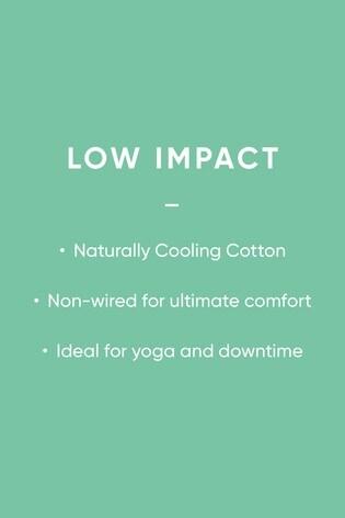 Pink Low Impact Cotton Sports Crop Bra