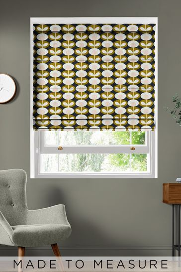 Oval Flower Seagrass Green Made To Measure Roman Blind by Orla Kiely