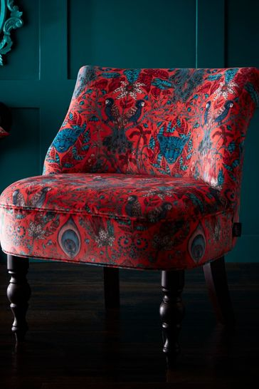 Amazon Red Langley Chair by Emma Shipley