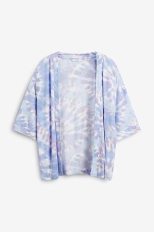 Purple Tie Dye Kimono