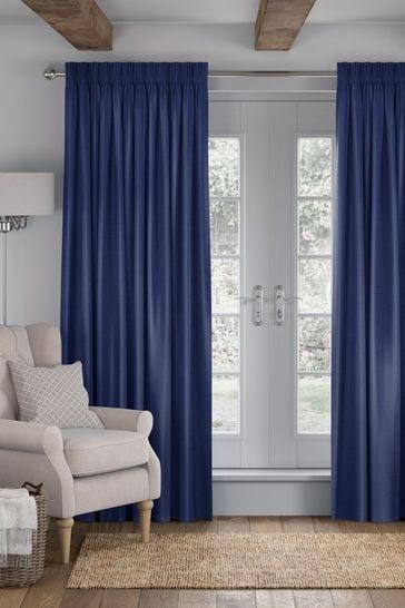 Eloise Indigo Blue Made To Measure Curtains