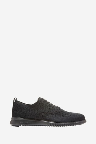 Cole Haan Black Zerogrand Stitchlite Oxford Lace-Up Shoes