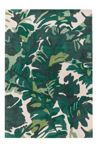 Matrix Leaves Wool Rich Rug by Asiatic Rugs