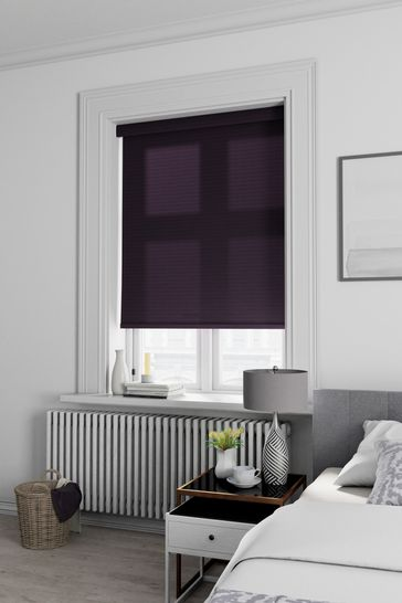 Chevvie Blueberry Purple Made To Measure Roller Blind