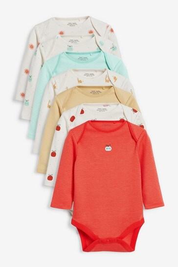 7 Pack Long Sleeve Bodysuits (0mths-3yrs)