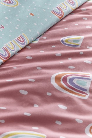 Rainbow Pom Kid's Duvet Cover and Pillowcase Set by Appletree