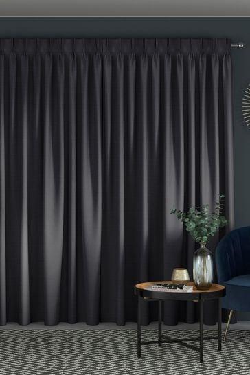 Jasper Onyx Black Made To Measure Curtains