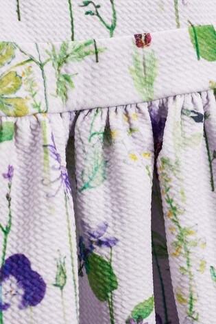 Lilac Floral Ponte Dress (3mths-7yrs)