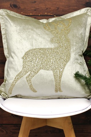 Woodland Prancer Cushion by Riva Home