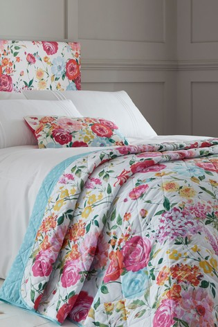 Sailsbury Bright Floral Bedspread by Catherine Lansfield