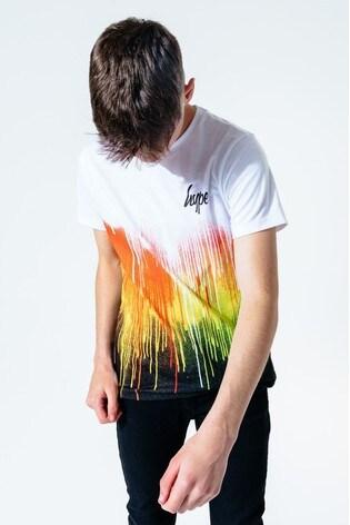 Hype. Kids Multi Rainbow Drips T-Shirt
