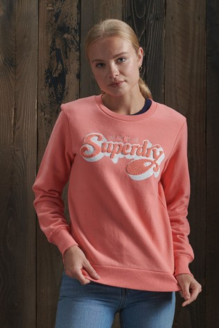 Superdry Limited Edition Chenille Shadow Crew Sweatshirt
