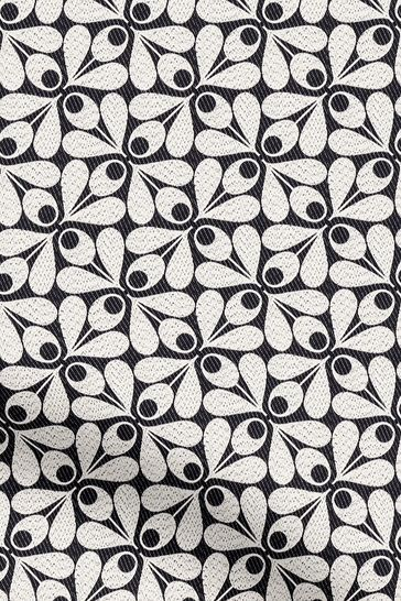 Woven Acorn Cup Charcoal Black Made To Measure Roman Blind by Orla Kiely
