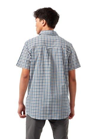 Craghoppers Blue Nour Short Sleeve Check Shirt