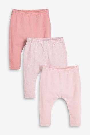 Pink 3 Pack Leggings (0mths-3yrs)