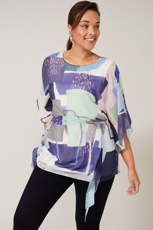 Studio 8 Blue Janey Printed Top
