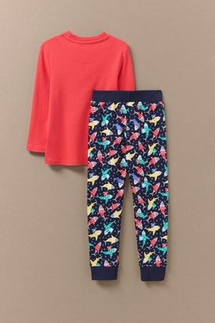 Crew Clothing Red Sharks Pyjama Set
