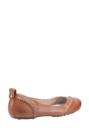 Hush Puppies Tan Janessa Slip-On Shoes