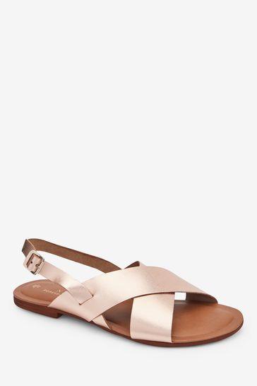 Rose Gold Regular/Wide Fit Forever Comfort® Cross Front Slingbacks