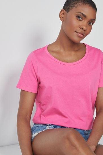 Bright Pink Crew Neck T-Shirt