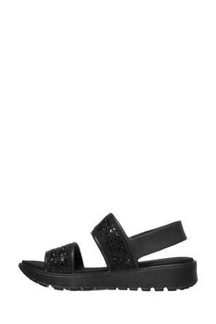 Skechers® Black Footsteps Glam Party Sandals
