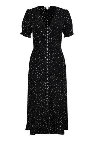 Monsoon Black Oliver Spot Sustainable Viscose Dress