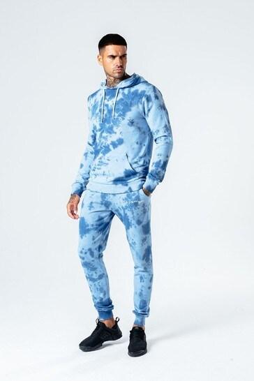 Hype. Mens Blue Tie Dye Pullover Hoody