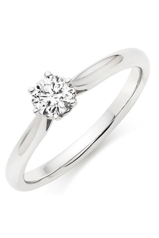 Beaverbrooks 9ct White Gold Diamond Ring