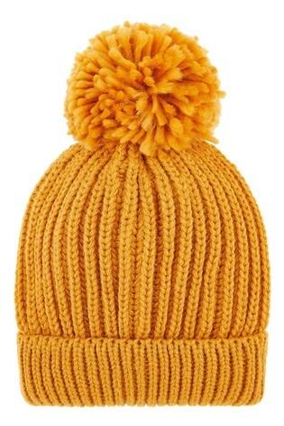 Accessorize Chunky Knit Pom Pom Beanie Hat