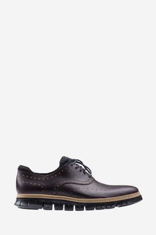 Cole Haan Brown Zerogrand Wing Oxford WP Lace Shoes