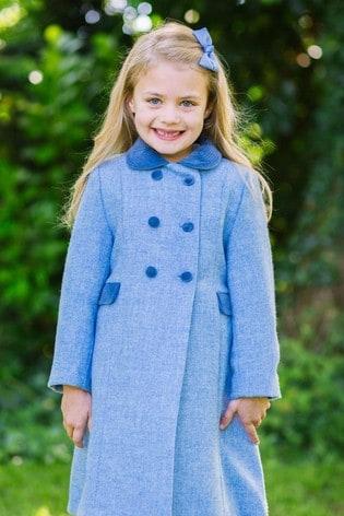 Trotters London Pale Blue Classic Coat