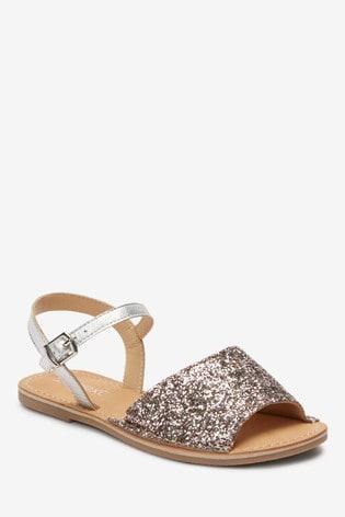 Buy Glitter Peep Toe Sandals (Older