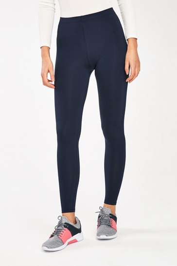 Navy Full Length Leggings