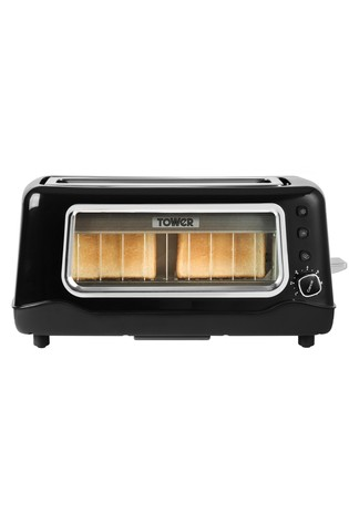 Tower Glass 2 Slot Toaster