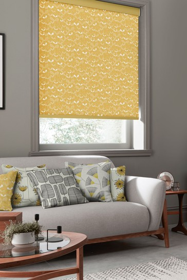 Saplings Sunflower Yellow Made To Measure Roller Blind by MissPrint