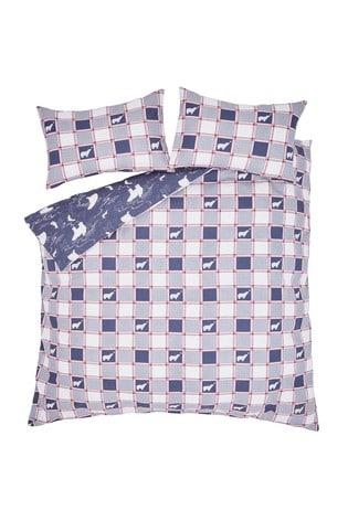 FatFace Polar Bear Brushed Cotton Duvet Cover and Pillowcase Set