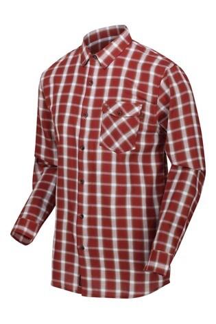 Regatta Red Check Lonan Long Sleeve Shirt