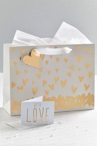 Heart Gift Bag Set