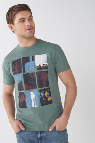 Green Music Graphic T-Shirt