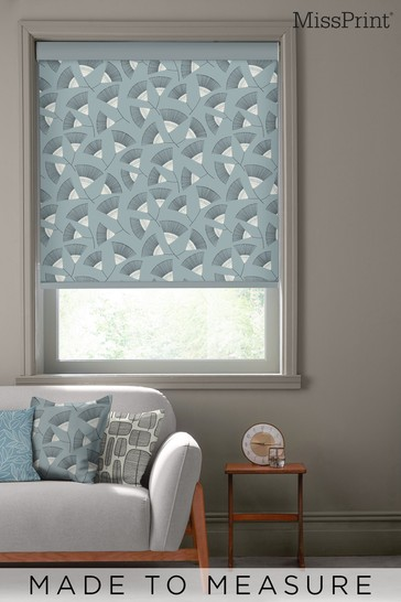 Persia Silversea Grey Made To Measure Roller Blind by MissPrint