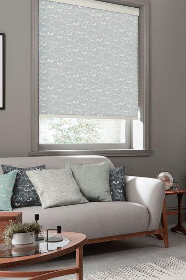 Saplings Cloud Grey Made To Measure Roller Blind by MissPrint
