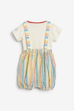 Little Bird Stripe Romper And Bodysuit Set